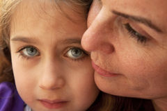 Mother and daughter. A mother and her daughter together with love Stock Photography