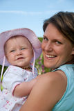 Mother an daughter royalty free stock photo