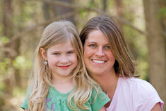 Mother Daughter. Close Up of Mother and Daughter Stock Photography