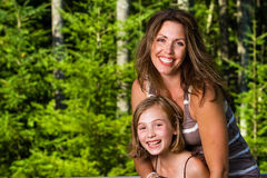 Mother and Daughter. A pretty Mother and Daughter Royalty Free Stock Photos