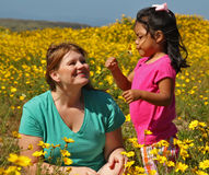 Mother and Daughter. A diverse family - mother and adopted daughter Stock Photography