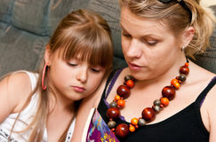 Mother and daughter stock photo