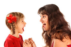 Mother with daughter. Stock Images