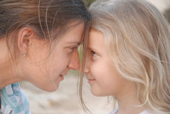 Mother and daughter. View understanding Stock Photography