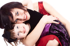 Mother and daughter. Mother women girl daughter embrace love family Royalty Free Stock Image