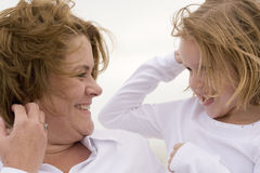 Mother and Daughter. Portrait Outdoors royalty free stock photography
