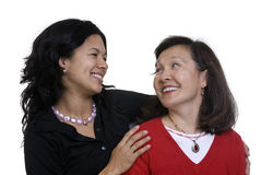 Mother and Daughter. A mother and daughter sharing a moment. Love, bonding, family Stock Photos
