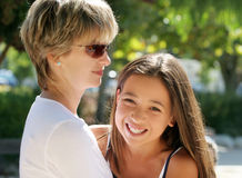 Mother and daughter. Mother and her happy daughter Stock Photos