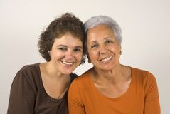 Mother and daughter. Portrait of a senior woman with her daughter Royalty Free Stock Photo