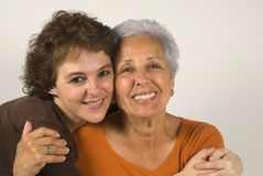 Mother and daughter. Hugging each other Stock Photography