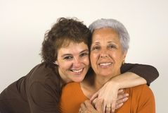 Mother and daughter. Hugging each other Royalty Free Stock Photos