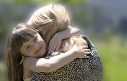 The mother and the daughter Royalty Free Stock Images