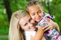 Mother and daughter. Royalty Free Stock Image