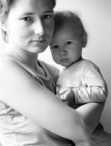 Mother and daughter. Portrait of mother and daughter Royalty Free Stock Photos