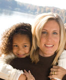 Mother and daughter. A beautiful mixed race mother and daughter Stock Images