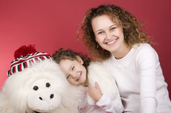Mother and daughter. Smiling to the camera Stock Photography