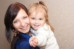Mother with a daughter. Young mother with a daughter Stock Photography