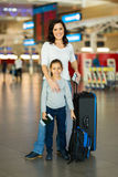 Mother daughter airport Stock Photo