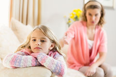 Mother and daughter annoyed at each other Stock Images