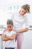 Mother and daughter after an argument Royalty Free Stock Photo
