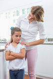 Mother and daughter after an argument Royalty Free Stock Photos