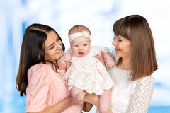 Mother with daughter and aunt Stock Photos