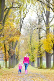 Mother and daughter in autumn Royalty Free Stock Images