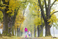 Mother and daughter in autumn Royalty Free Stock Photography