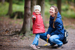 Mother and daughter at autumn park Stock Photography