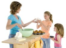 Mother Daughter Baking stock photos