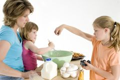 Mother Daughter Baking Royalty Free Stock Photo