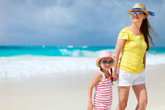 Mother and daughter at beach Royalty Free Stock Image
