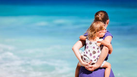 Mother and daughter on beach vacation Royalty Free Stock Photos