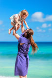 Mother and daughter on beach vacation Royalty Free Stock Photo