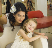 Mother and daughter in beauty salon Royalty Free Stock Photos
