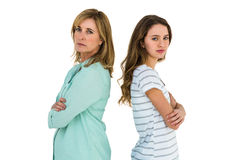 Mother and daughter being angry Stock Photo