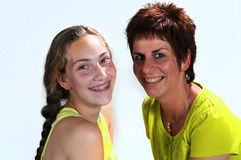 Mother and daughter. Best friends Stock Photos