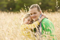Mother and daughter bonding embrace Stock Photography