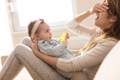 Mother and daughter bonding Stock Image