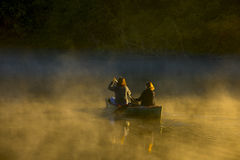 Mother and daughter canoing Royalty Free Stock Photography