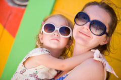Mother and daughter at Caribbean vacation Stock Photography