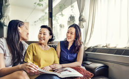 Mother Daughter Casual Adorable Heppiness Life Concept Stock Photo