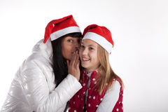 Mother and daughter celebrating christmas Stock Photography