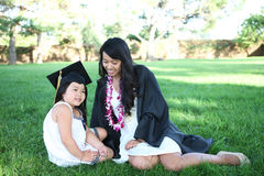 Mother and Daughter Celebrating Graduation Royalty Free Stock Photos