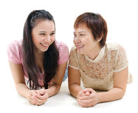 Mother and daughter chatting Royalty Free Stock Image
