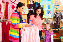 Mother And Daughter At Children`s Store Royalty Free Stock Photography