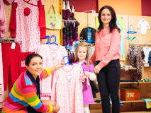 Mother And Daughter At Children`s Store Royalty Free Stock Photo