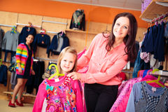 Mother And Daughter At Children`s Store Royalty Free Stock Image