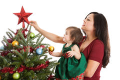 Mother and daughter at Christmas Stock Photography