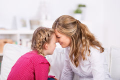Mother and daughter close together Stock Images
